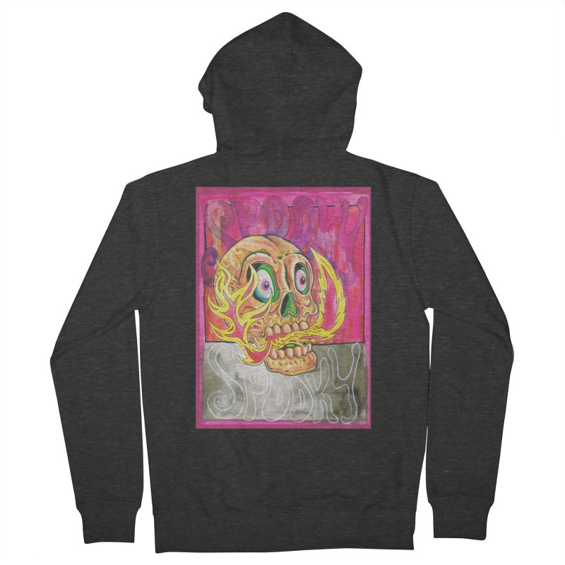 SPOOKY SPOOKY Men's Zip-Up Hoody by miskel's Shop