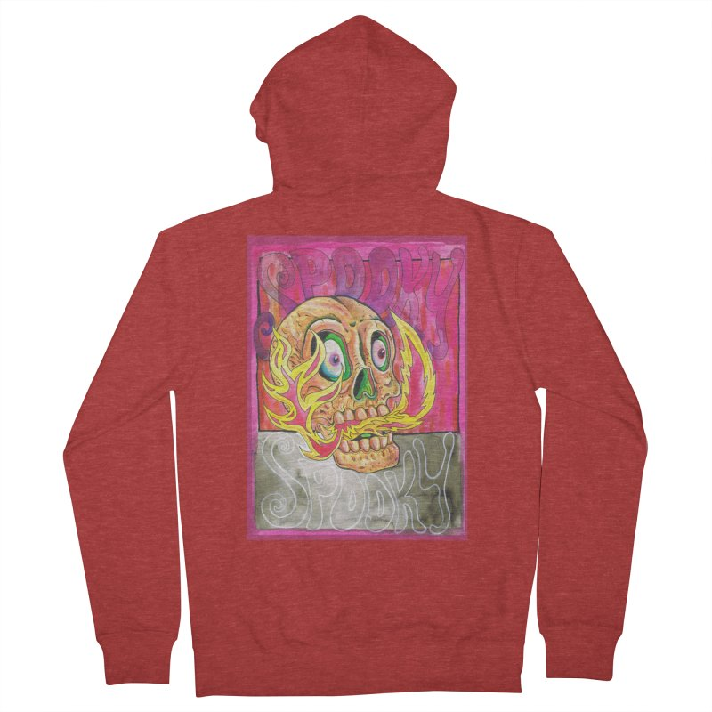 SPOOKY SPOOKY Men's French Terry Zip-Up Hoody by miskel's Shop