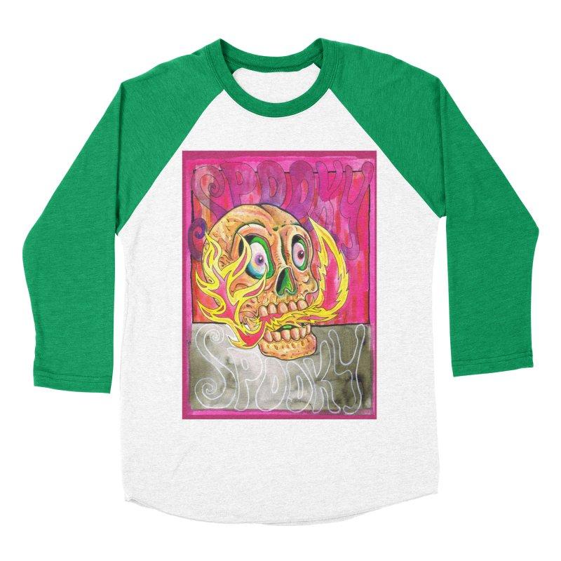 SPOOKY SPOOKY Women's Baseball Triblend Longsleeve T-Shirt by miskel's Shop
