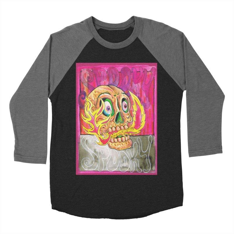 SPOOKY SPOOKY Women's Baseball Triblend T-Shirt by miskel's Shop