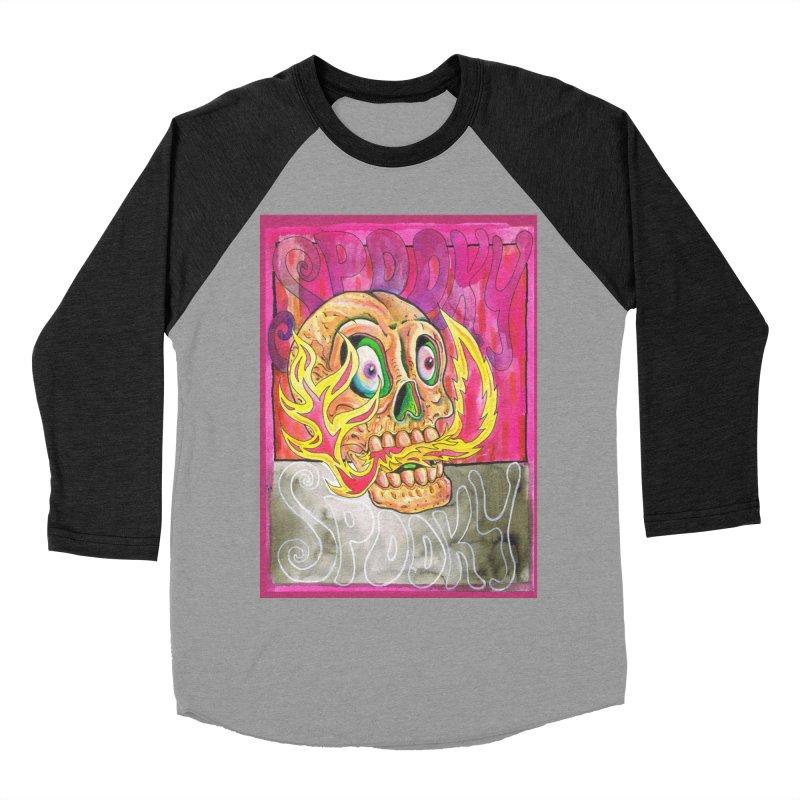 SPOOKY SPOOKY Men's Baseball Triblend Longsleeve T-Shirt by miskel's Shop