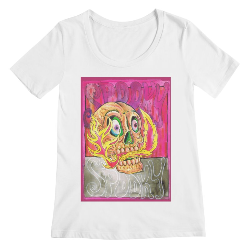 SPOOKY SPOOKY Women's Scoopneck by miskel's Shop