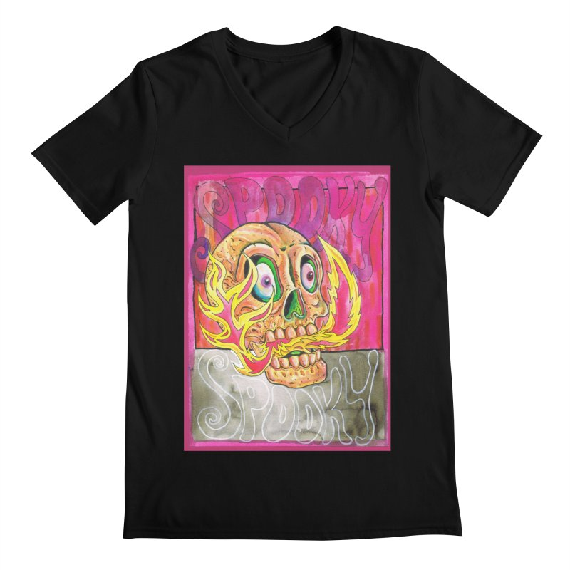 SPOOKY SPOOKY Men's V-Neck by miskel's Shop