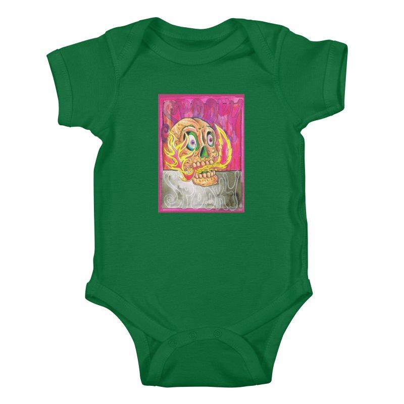 SPOOKY SPOOKY Kids Baby Bodysuit by miskel's Shop