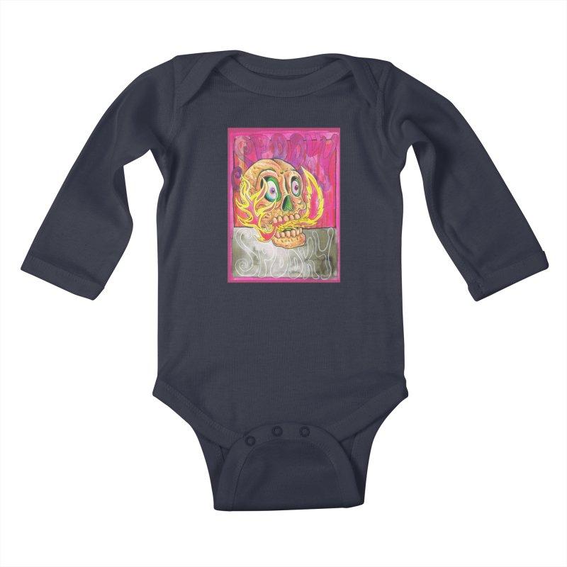 SPOOKY SPOOKY Kids Baby Longsleeve Bodysuit by miskel's Shop