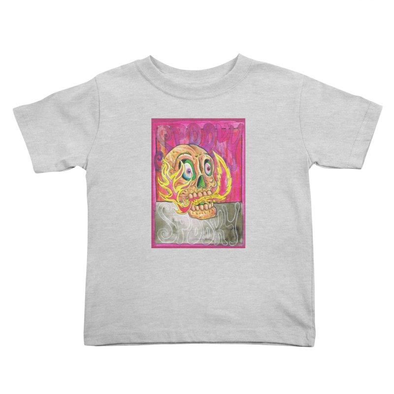 SPOOKY SPOOKY Kids Toddler T-Shirt by miskel's Shop