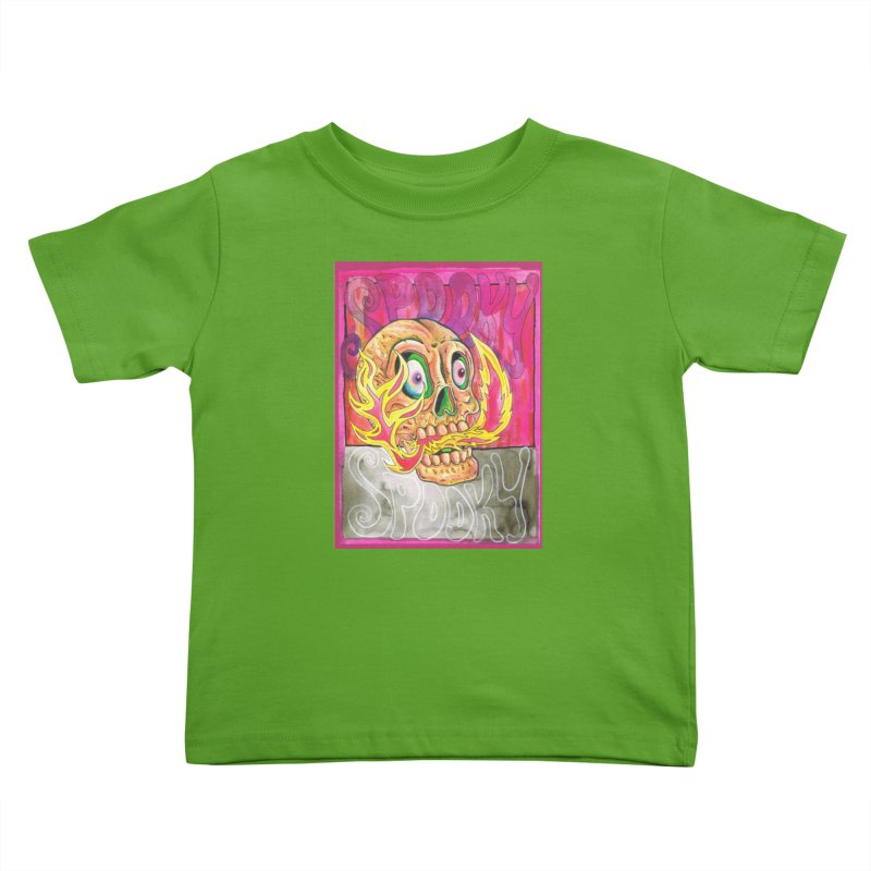 SPOOKY SPOOKY Kids Toddler T-Shirt by miskel's Shop