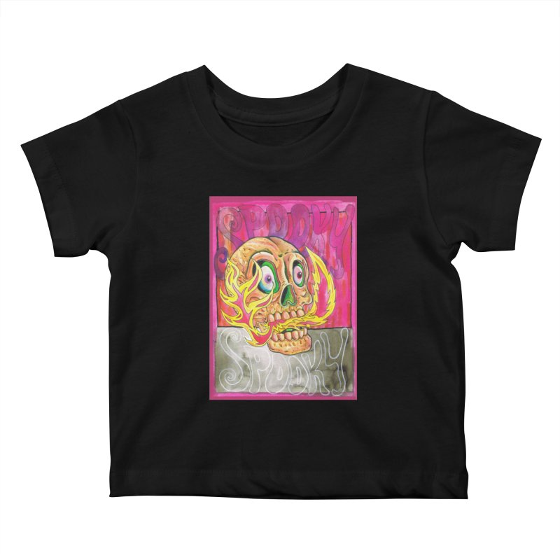 SPOOKY SPOOKY Kids Baby T-Shirt by miskel's Shop