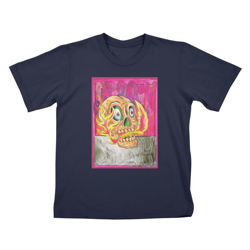 SPOOKY SPOOKY Kids T-Shirt by miskel's Shop
