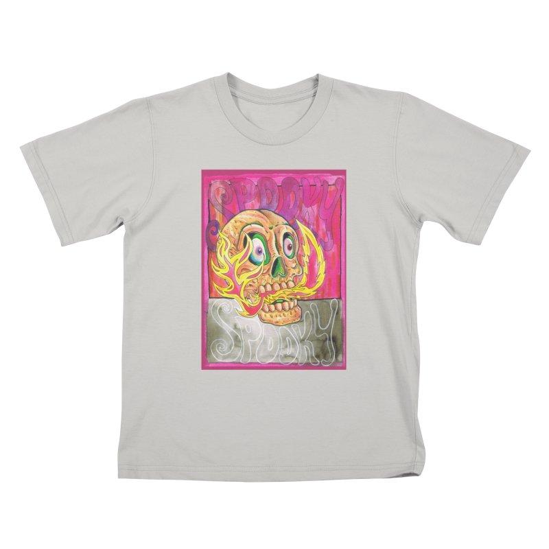 SPOOKY SPOOKY Kids T-Shirt by miskel's Shop