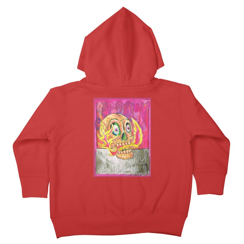 SPOOKY SPOOKY Kids Toddler Zip-Up Hoody by miskel's Shop