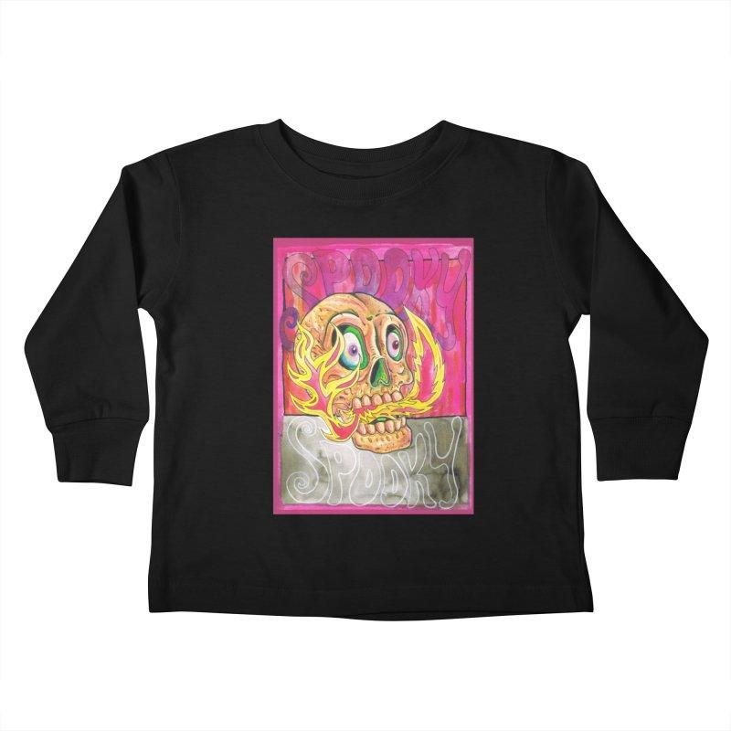 SPOOKY SPOOKY Kids Toddler Longsleeve T-Shirt by miskel's Shop