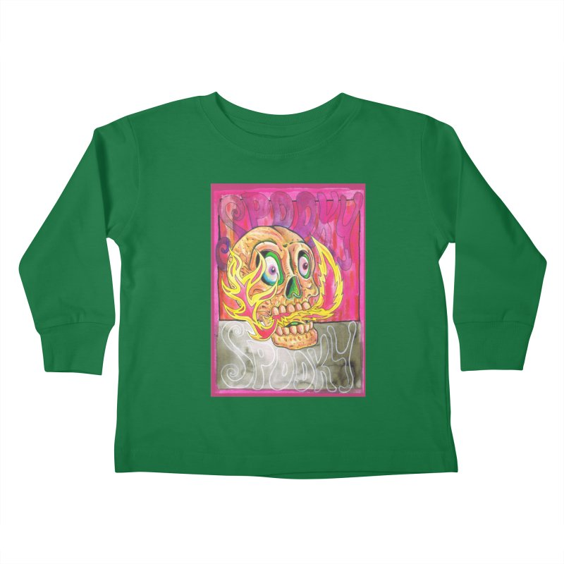 SPOOKY SPOOKY Kids Toddler Longsleeve T-Shirt by miskel's Shop