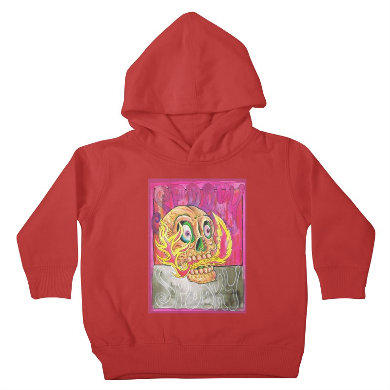 SPOOKY SPOOKY Kids Toddler Pullover Hoody by miskel's Shop