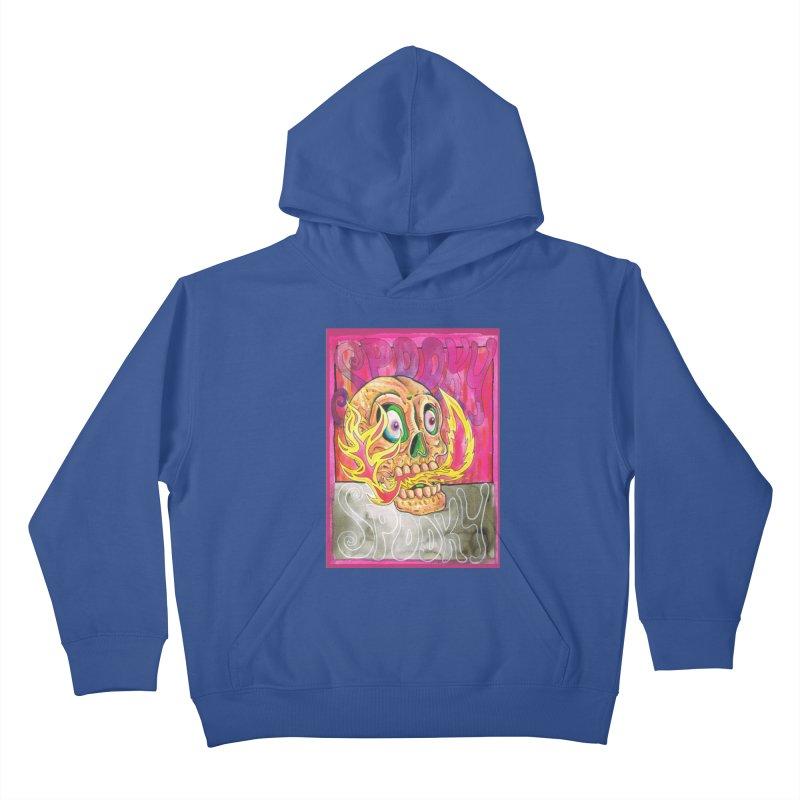 SPOOKY SPOOKY Kids Pullover Hoody by miskel's Shop