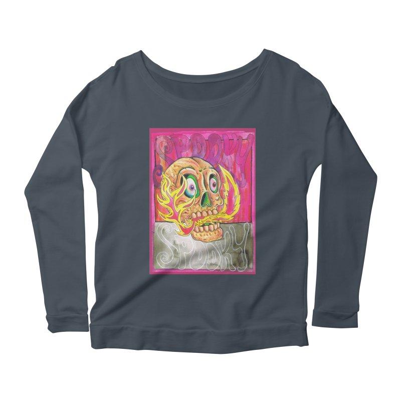 SPOOKY SPOOKY Women's Scoop Neck Longsleeve T-Shirt by miskel's Shop