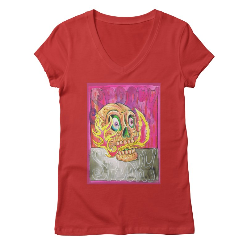 SPOOKY SPOOKY Women's V-Neck by miskel's Shop