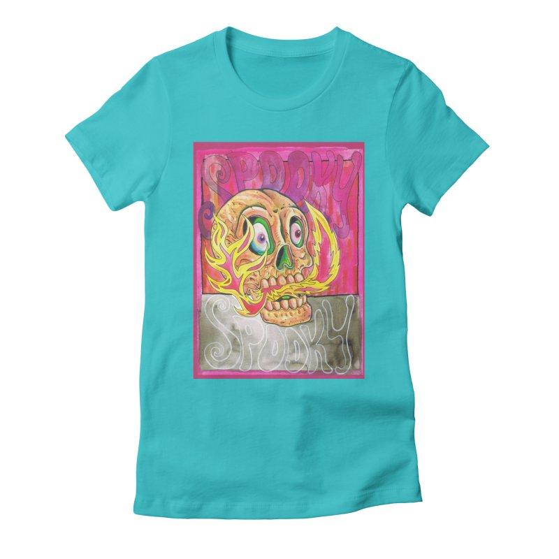 SPOOKY SPOOKY Women's T-Shirt by miskel's Shop