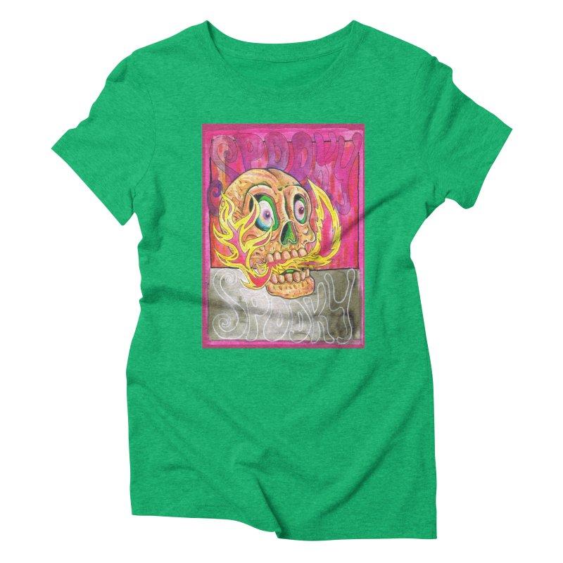 SPOOKY SPOOKY Women's Triblend T-Shirt by miskel's Shop
