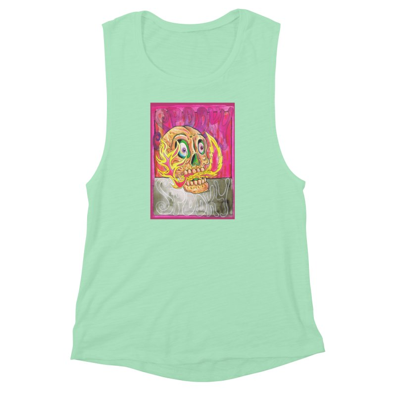 SPOOKY SPOOKY Women's Muscle Tank by miskel's Shop