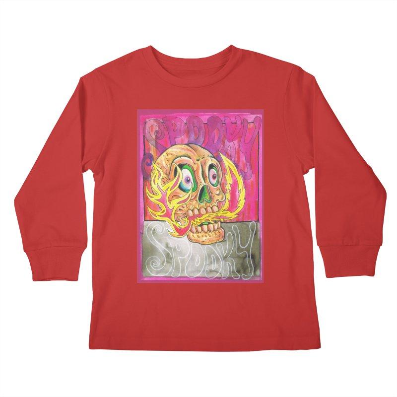 SPOOKY SPOOKY Kids Longsleeve T-Shirt by miskel's Shop