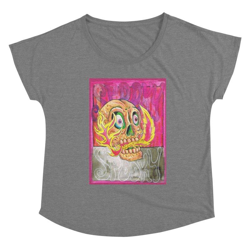 SPOOKY SPOOKY Women's Scoop Neck by miskel's Shop