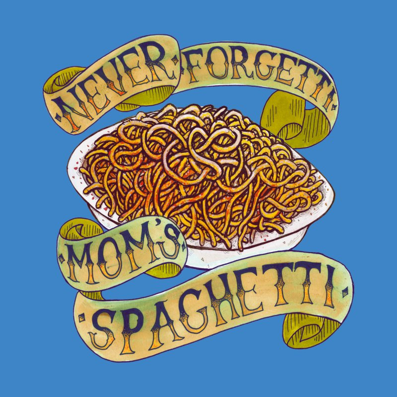 Never Forgetti Mom's Spaghetti Accessories Zip Pouch by miskel's Shop