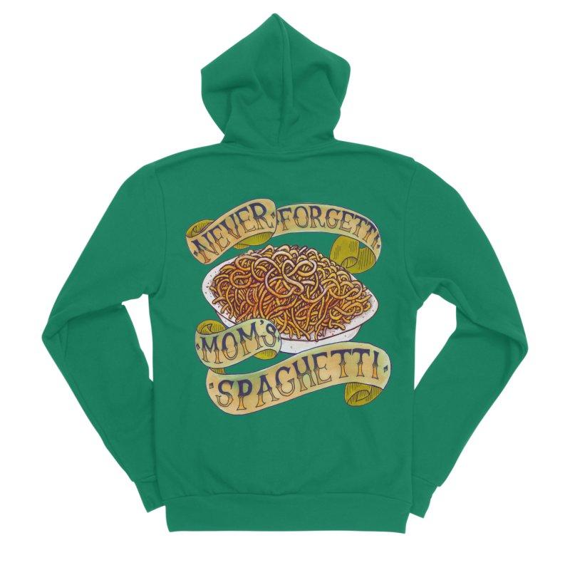 Never Forgetti Mom's Spaghetti Men's Sponge Fleece Zip-Up Hoody by miskel's Shop