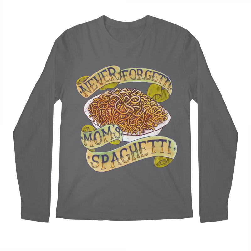 Never Forgetti Mom's Spaghetti Men's Regular Longsleeve T-Shirt by miskel's Shop