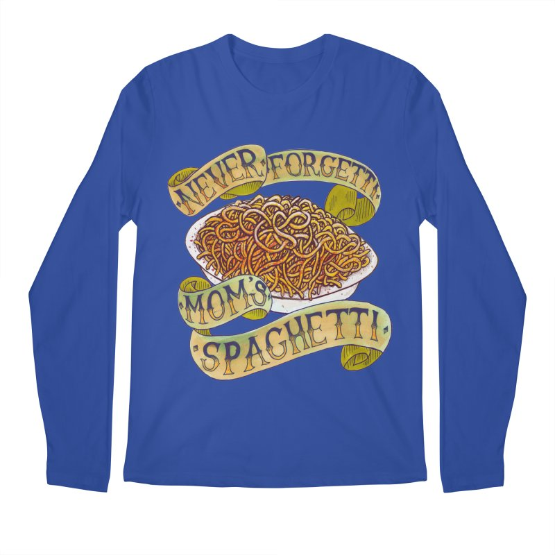 Never Forgetti Mom's Spaghetti Men's Regular Longsleeve T-Shirt by miskel's Shop