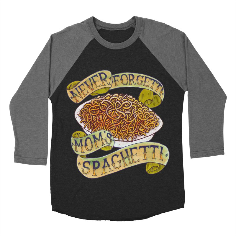 Never Forgetti Mom's Spaghetti Men's Baseball Triblend Longsleeve T-Shirt by miskel's Shop