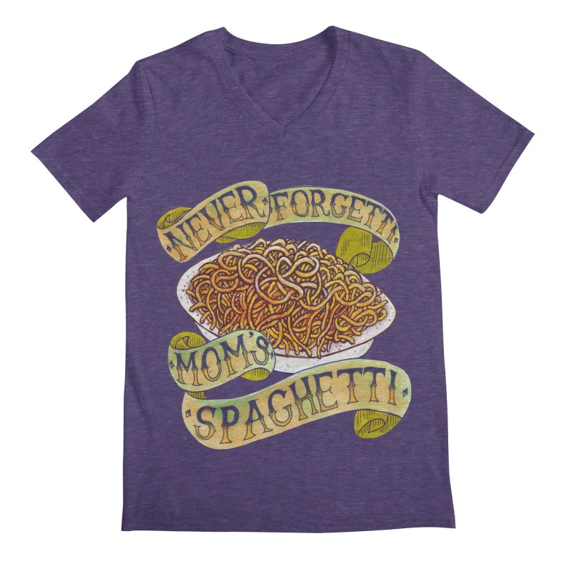Never Forgetti Mom's Spaghetti Men's Regular V-Neck by miskel's Shop