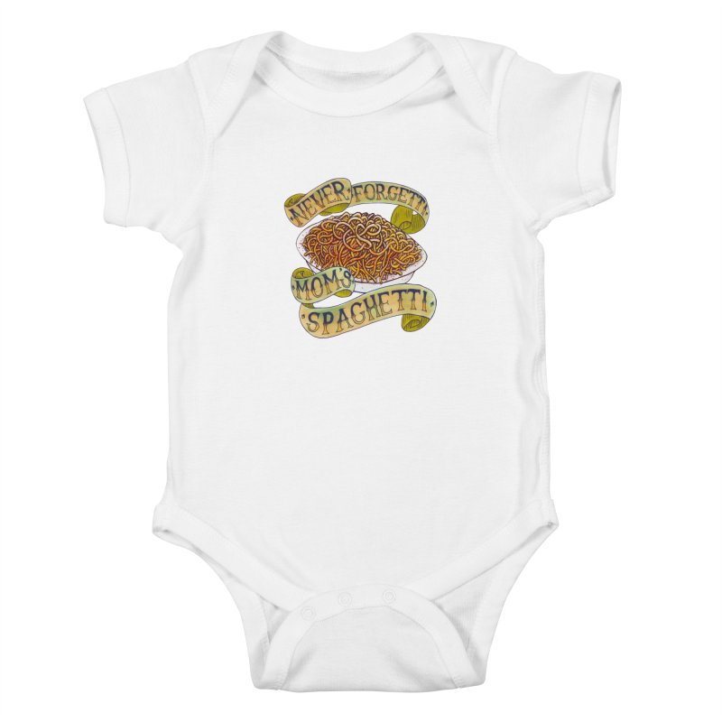 Never Forgetti Mom's Spaghetti Kids Baby Bodysuit by miskel's Shop