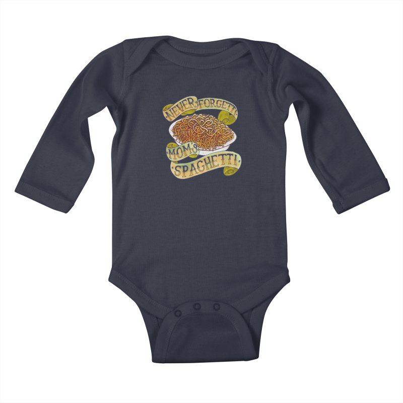Never Forgetti Mom's Spaghetti Kids Baby Longsleeve Bodysuit by miskel's Shop
