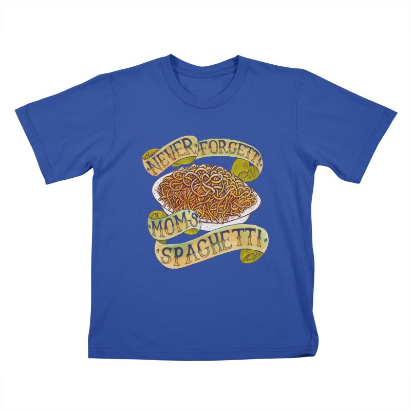 Never Forgetti Mom's Spaghetti Kids T-Shirt by miskel's Shop
