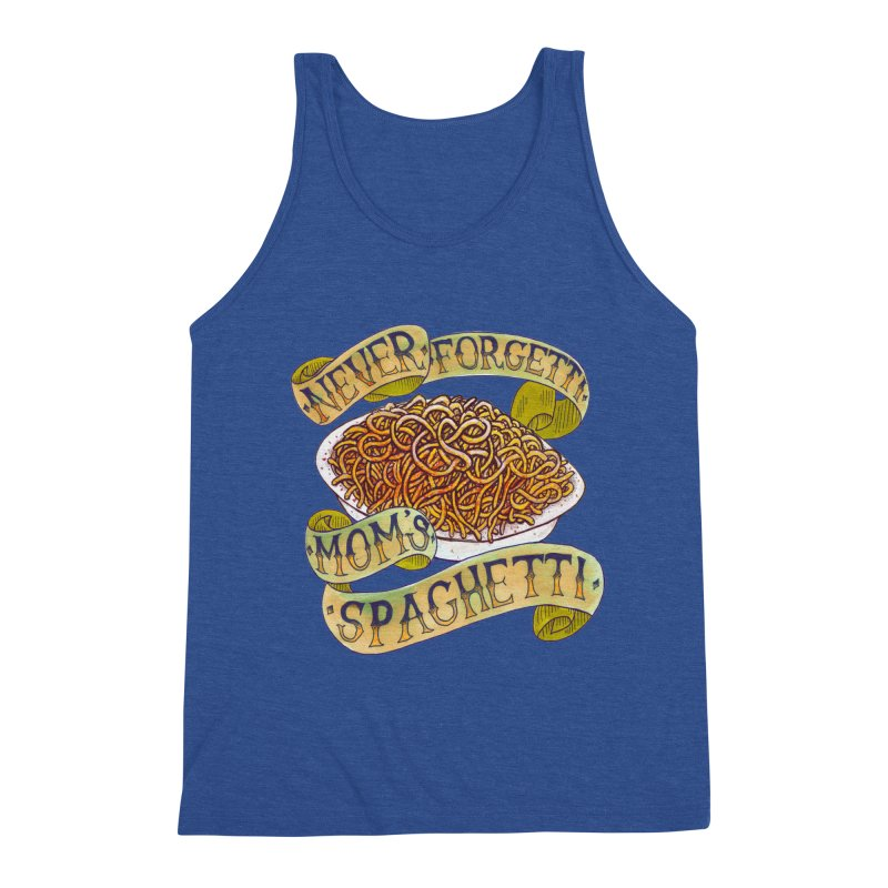 Never Forgetti Mom's Spaghetti Men's Triblend Tank by miskel's Shop