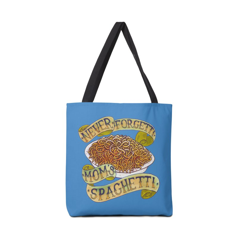 Never Forgetti Mom's Spaghetti Accessories Tote Bag Bag by miskel's Shop