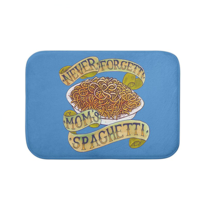 Never Forgetti Mom's Spaghetti Home Bath Mat by miskel's Shop