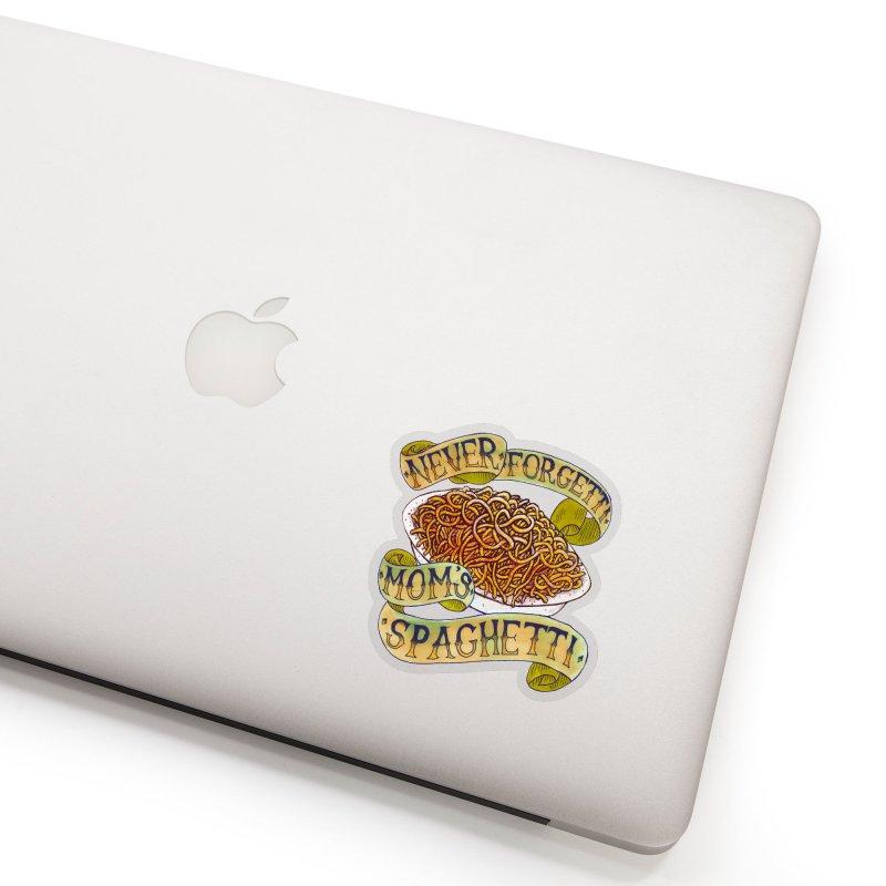 Never Forgetti Mom's Spaghetti Accessories Sticker by miskel's Shop