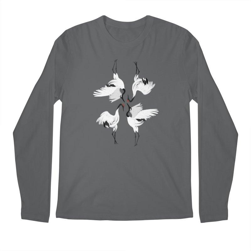 Crane Ballet Men's Longsleeve T-Shirt by MissabeeART