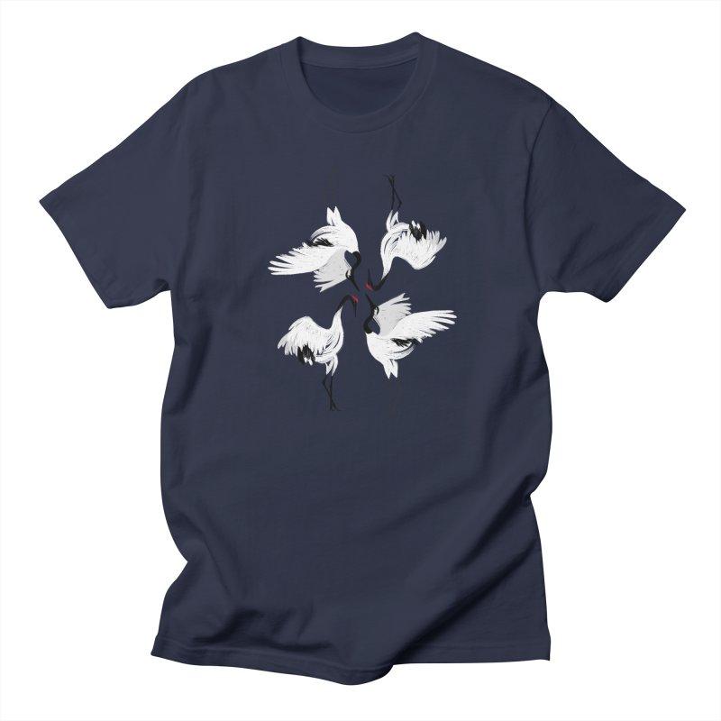 Crane Ballet Men's T-Shirt by MissabeeART