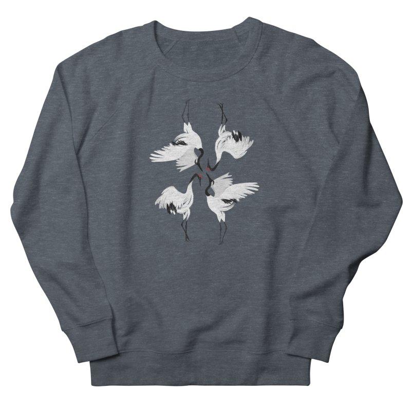 Crane Ballet Men's Sweatshirt by MissabeeART