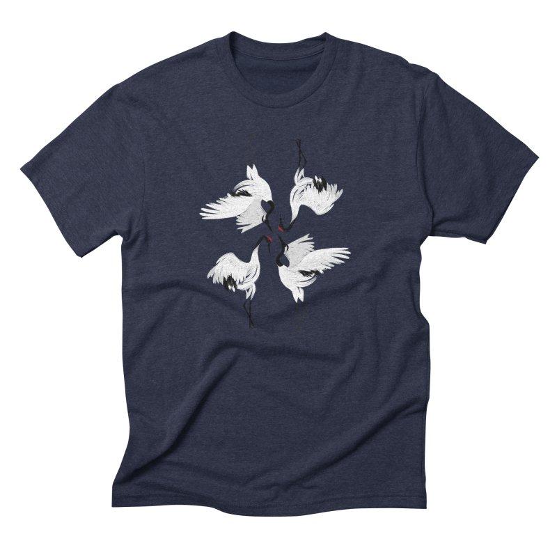 Crane Ballet Men's Triblend T-shirt by MissabeeART