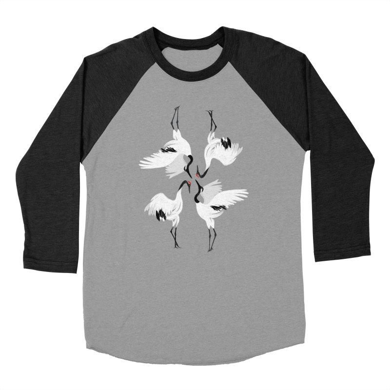 Crane Ballet Men's Baseball Triblend T-Shirt by MissabeeART