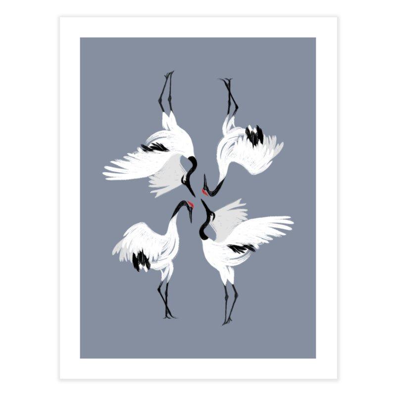 Crane Ballet Home Fine Art Print by MissabeeART