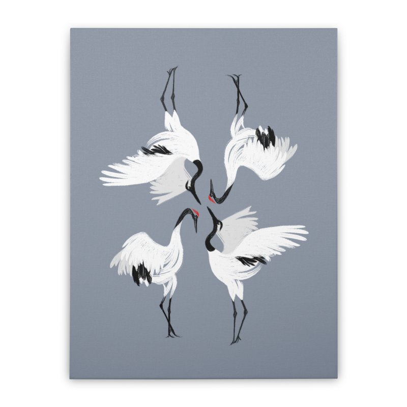 Crane Ballet Home Stretched Canvas by MissabeeART