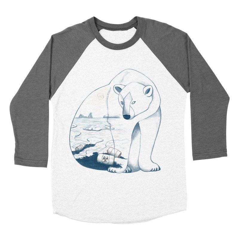 Pollution Men's Baseball Triblend T-Shirt by MissabeeART