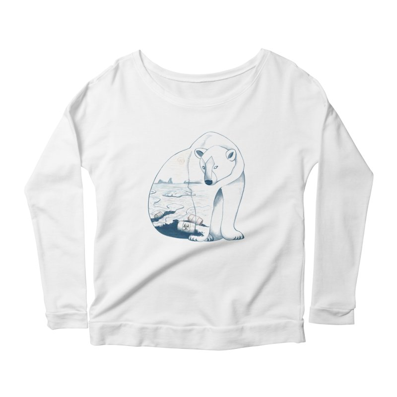 Pollution Women's Longsleeve Scoopneck  by MissabeeART