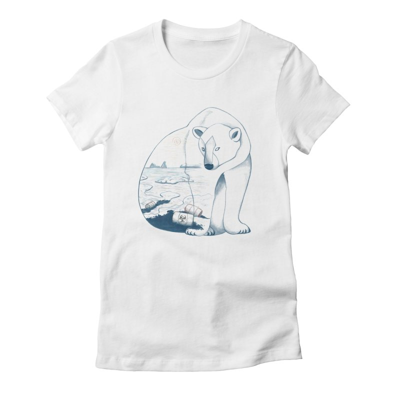Pollution Women's Fitted T-Shirt by MissabeeART