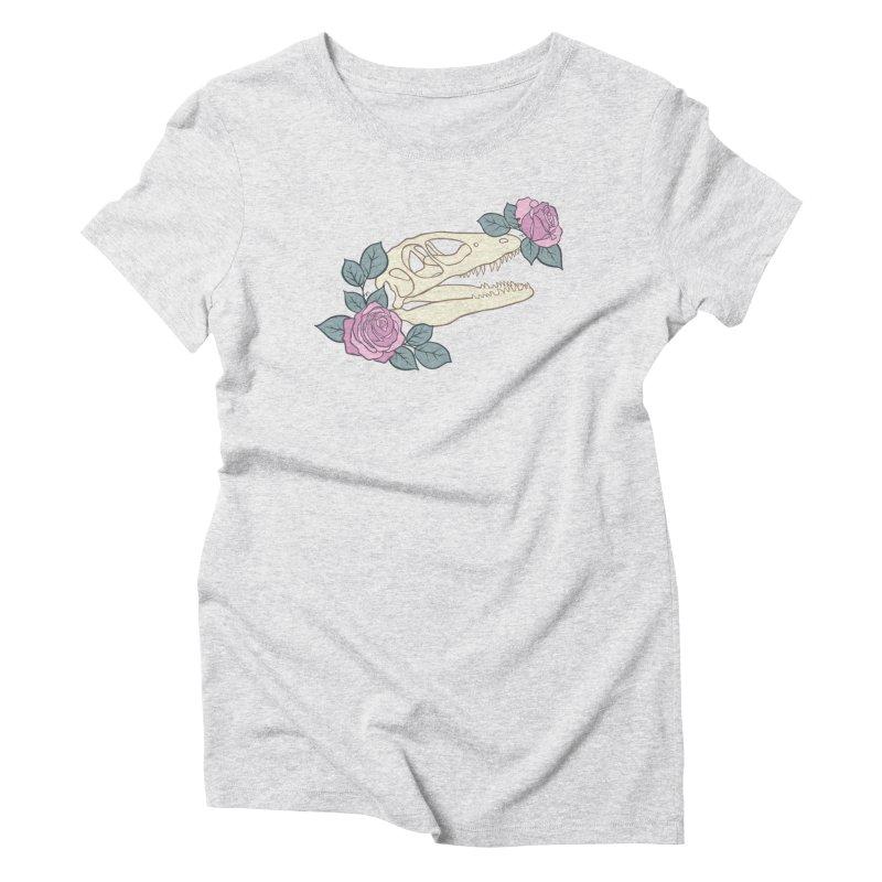 Skull Garden Women's Triblend T-Shirt by MissabeeART
